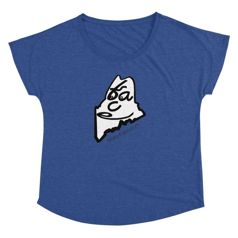 MaineFace.Com Women's Dolman Scoop Neck by Sam Shain's Artist Shop