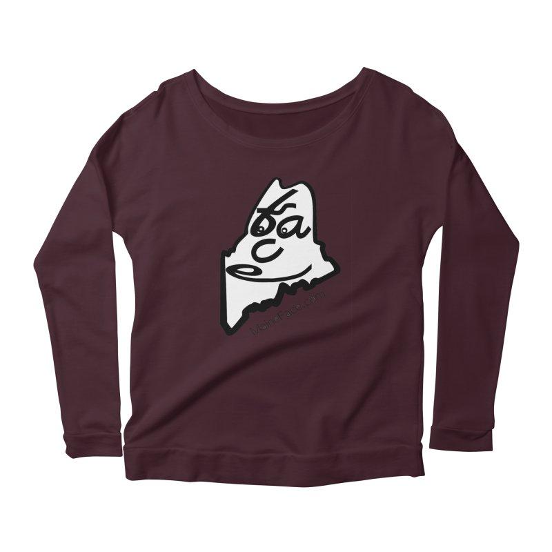 MaineFace.Com Women's Scoop Neck Longsleeve T-Shirt by Sam Shain's Artist Shop