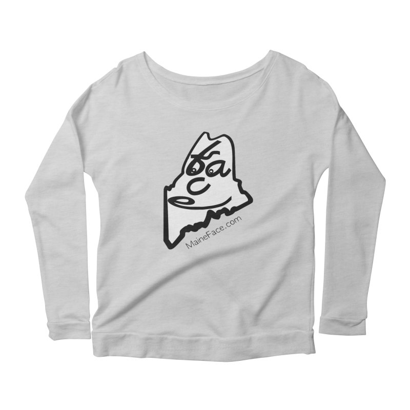 MaineFace.Com Women's Scoop Neck Longsleeve T-Shirt by Sam Shain's Artist Shop