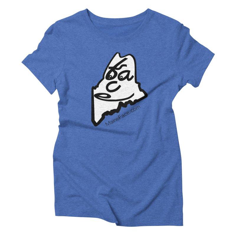MaineFace.Com Women's Triblend T-Shirt by Sam Shain's Artist Shop