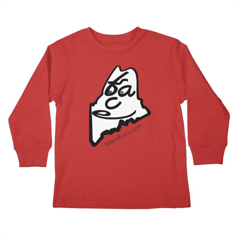 MaineFace.Com Kids Longsleeve T-Shirt by Sam Shain's Artist Shop