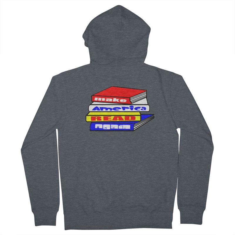 Make America Read Again Men's French Terry Zip-Up Hoody by Sam Shain's Artist Shop