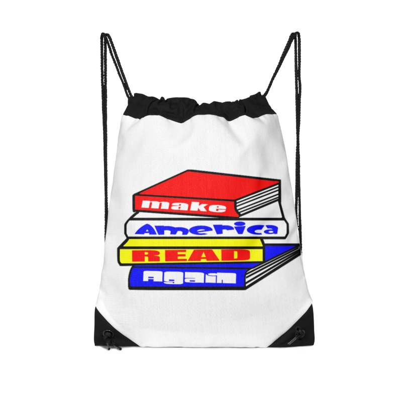 Make America Read Again Accessories Drawstring Bag Bag by Sam Shain's Artist Shop