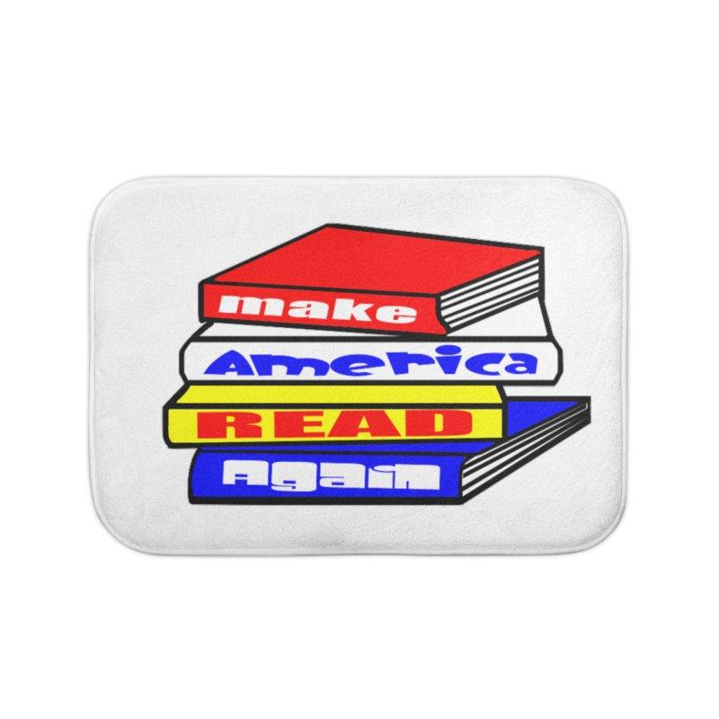 Make America Read Again Home Bath Mat by Sam Shain's Artist Shop