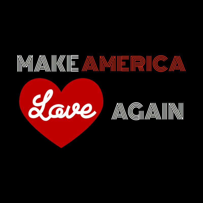 Make America Love Again Accessories Zip Pouch by Sam Shain's Artist Shop