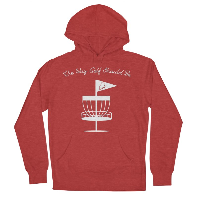 The Way Golf Should Be Women's French Terry Pullover Hoody by Sam Shain's Artist Shop