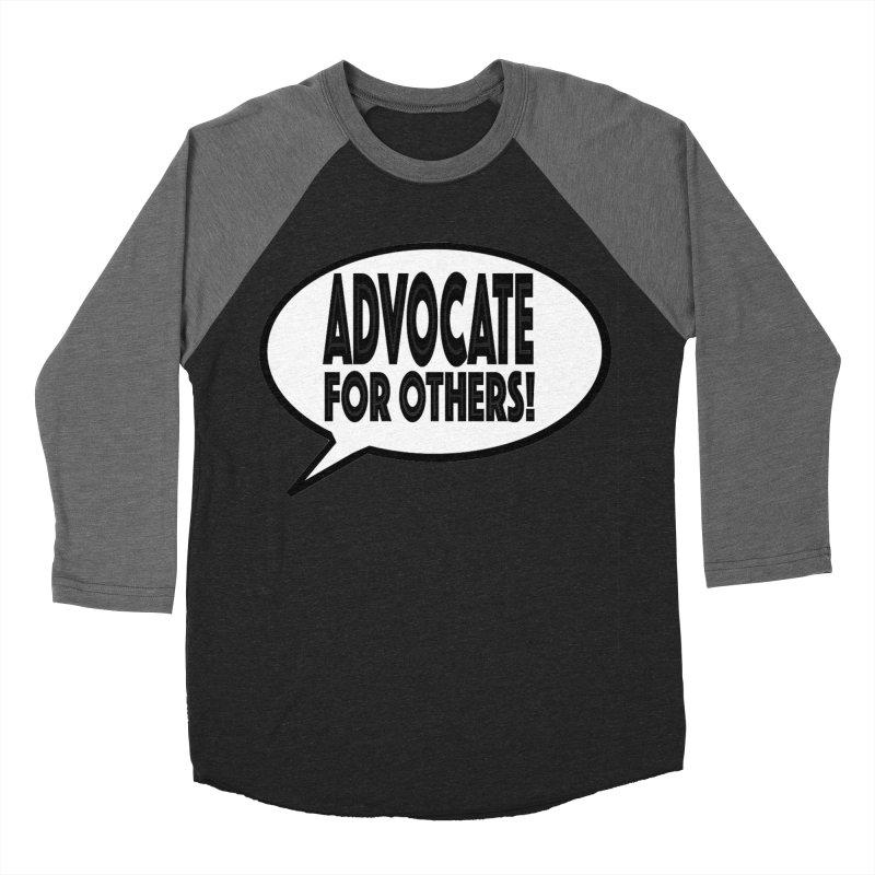Advocate Men's Baseball Triblend Longsleeve T-Shirt by Sam Shain's Artist Shop