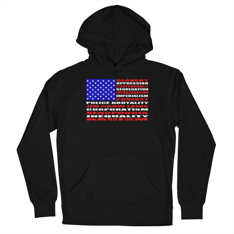 Land of the Free Women's French Terry Pullover Hoody by Sam Shain's Artist Shop