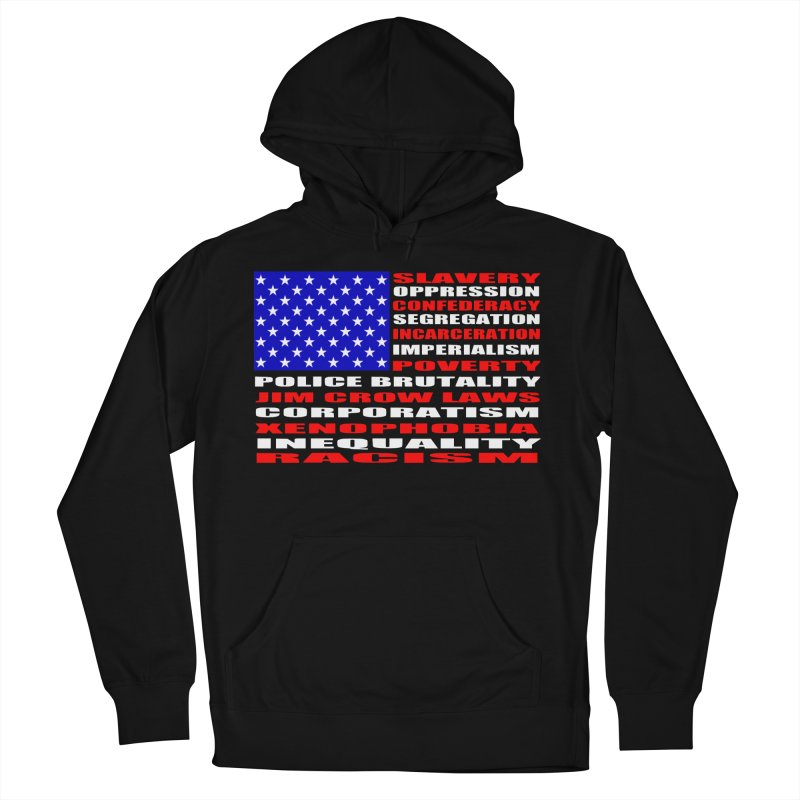 Land of the Free Men's French Terry Pullover Hoody by Sam Shain's Artist Shop