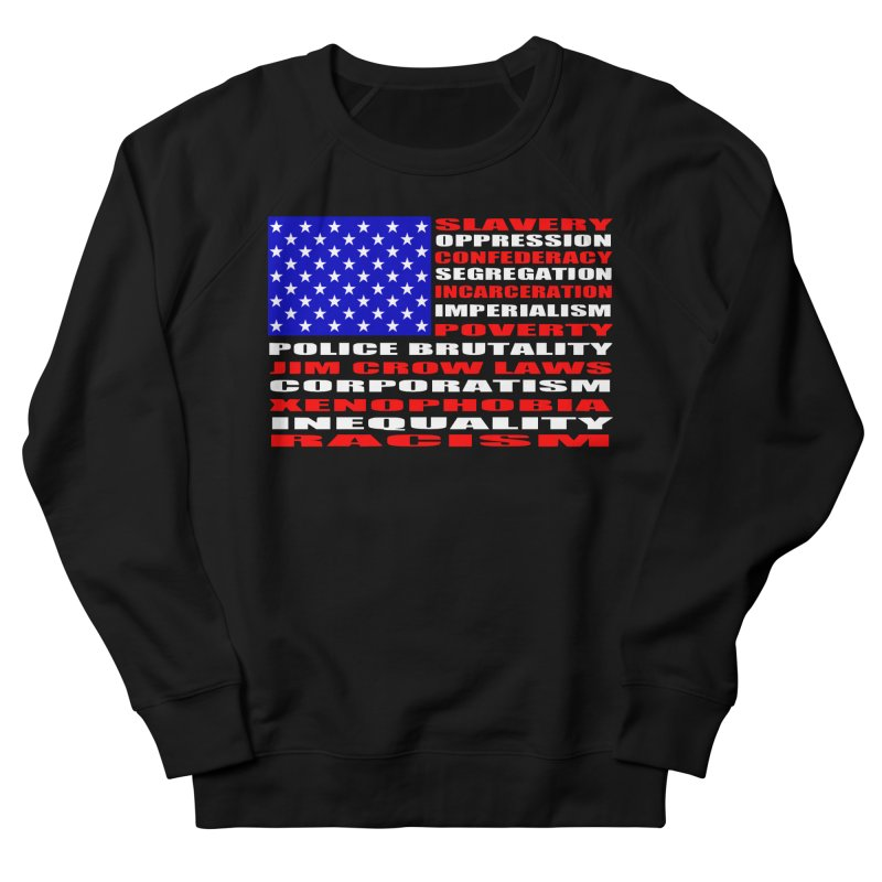 Land of the Free Men's French Terry Sweatshirt by Sam Shain's Artist Shop