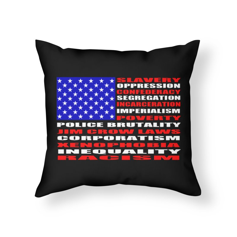 Land of the Free Home Throw Pillow by Sam Shain's Artist Shop