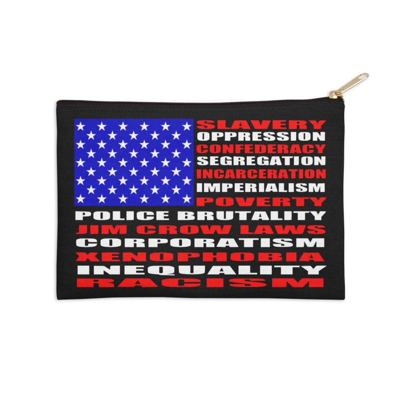 Land of the Free Accessories Zip Pouch by Sam Shain's Artist Shop