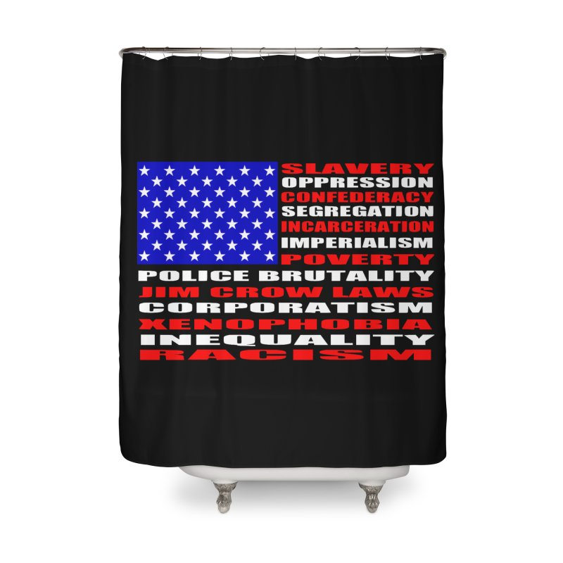 Land of the Free Home Shower Curtain by Sam Shain's Artist Shop