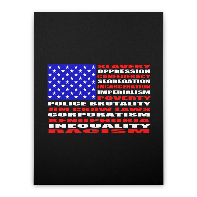 Land of the Free Home Stretched Canvas by Sam Shain's Artist Shop