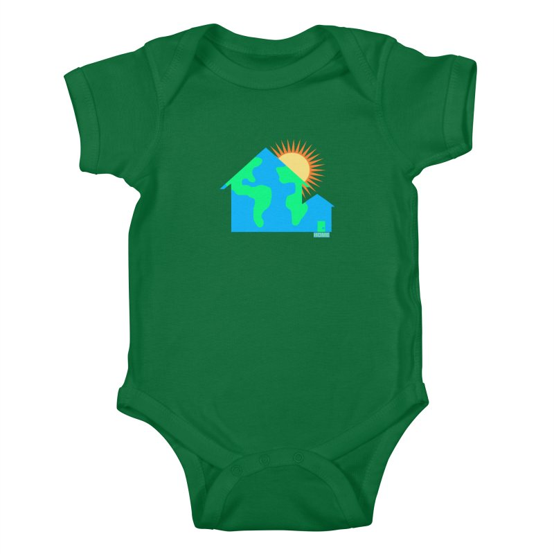 Home Kids Baby Bodysuit by Sam Shain's Artist Shop