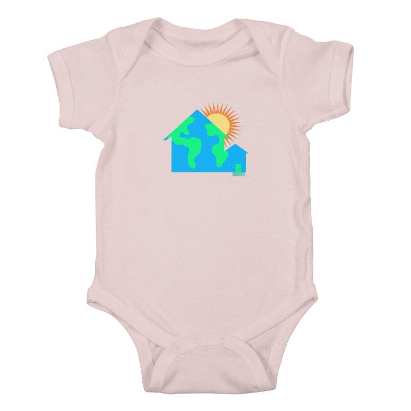 Home Kids Baby Bodysuit by Sam Shain's Artist Shop
