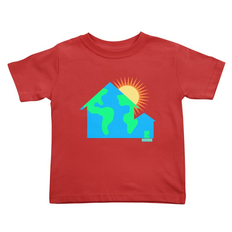 Home Kids Toddler T-Shirt by Sam Shain's Artist Shop