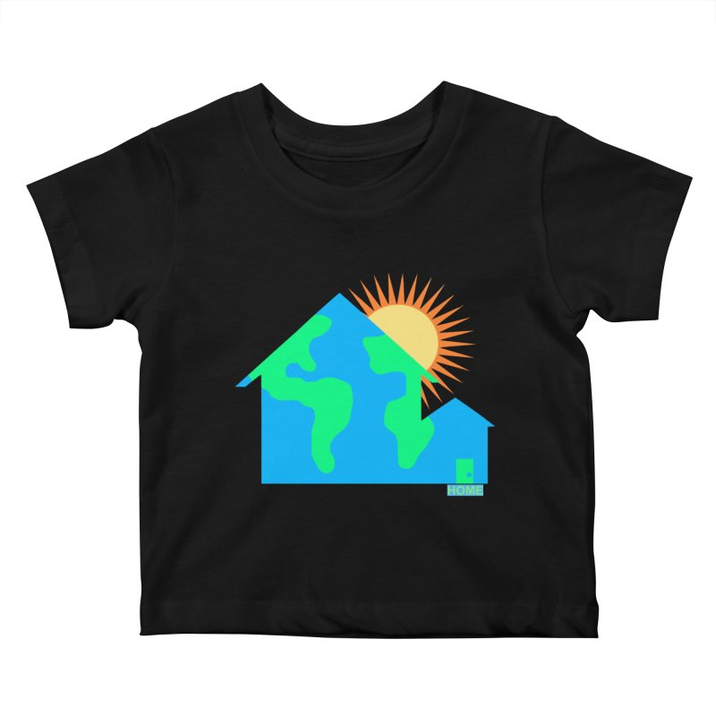 Home Kids Baby T-Shirt by Sam Shain's Artist Shop