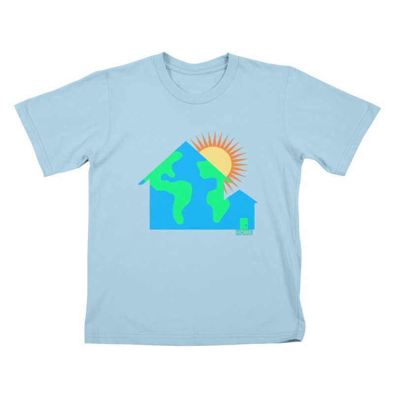 Home Kids T-Shirt by Sam Shain's Artist Shop
