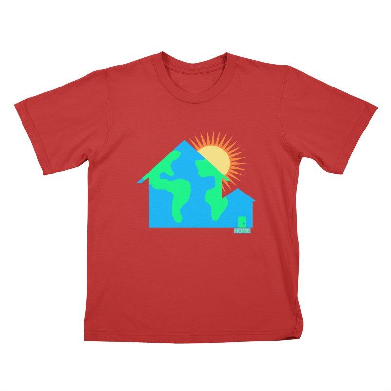 Home Kids T-Shirt by Sam Shain's Artist Shop