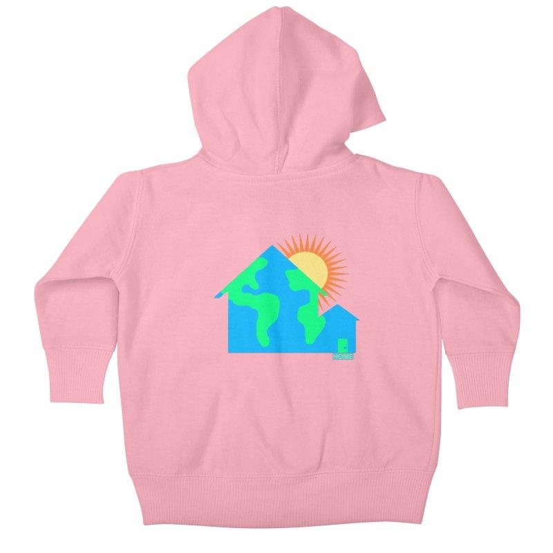 Home Kids Baby Zip-Up Hoody by Sam Shain's Artist Shop