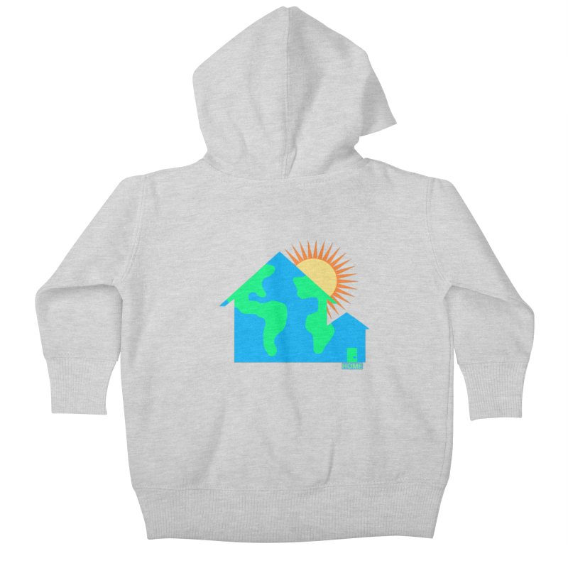 Home Kids Baby Zip-Up Hoody by Sam Shain's Artist Shop