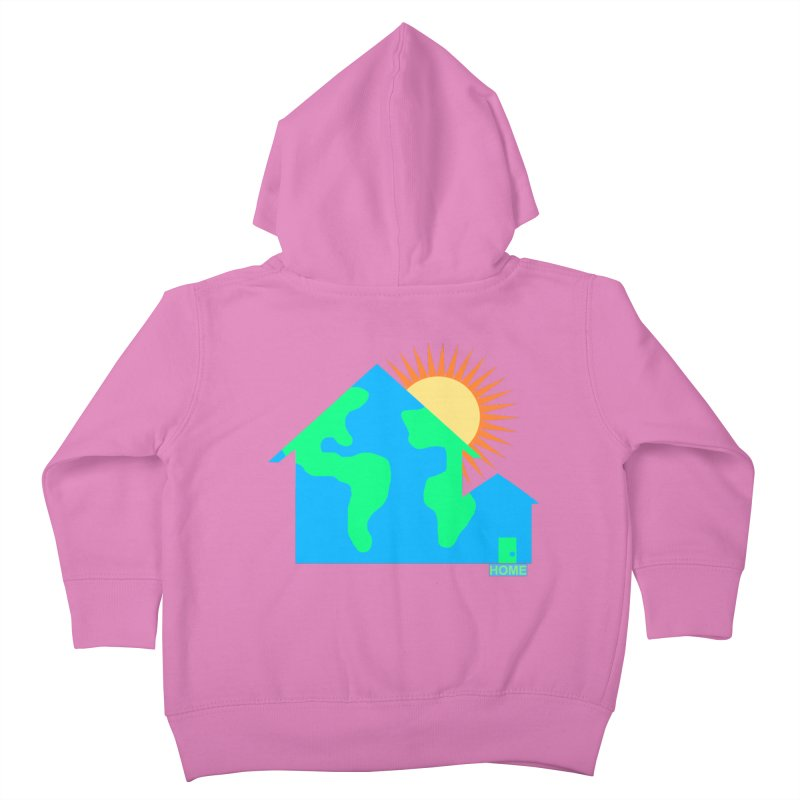 Home Kids Toddler Zip-Up Hoody by Sam Shain's Artist Shop