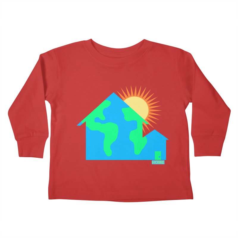Home Kids Toddler Longsleeve T-Shirt by Sam Shain's Artist Shop