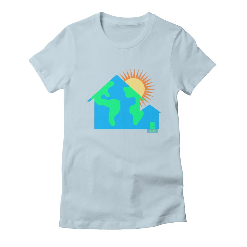 Home Women's Fitted T-Shirt by Sam Shain's Artist Shop