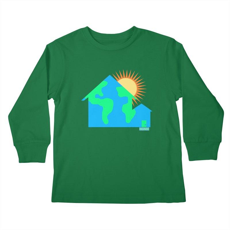 Home Kids Longsleeve T-Shirt by Sam Shain's Artist Shop