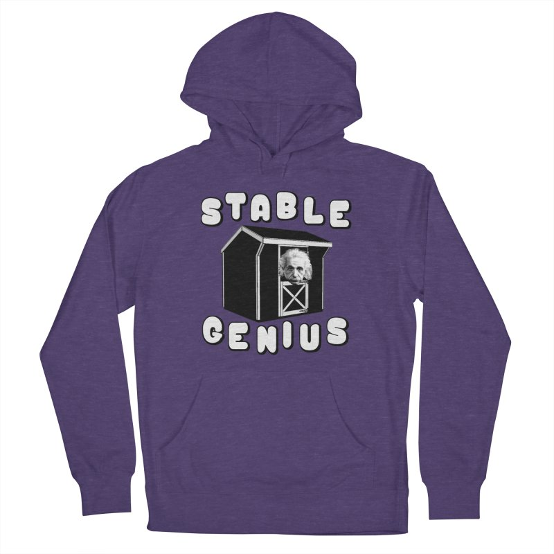 Stable Genius Men's French Terry Pullover Hoody by Sam Shain's Artist Shop