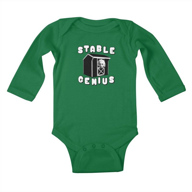 Stable Genius Kids Baby Longsleeve Bodysuit by Sam Shain's Artist Shop