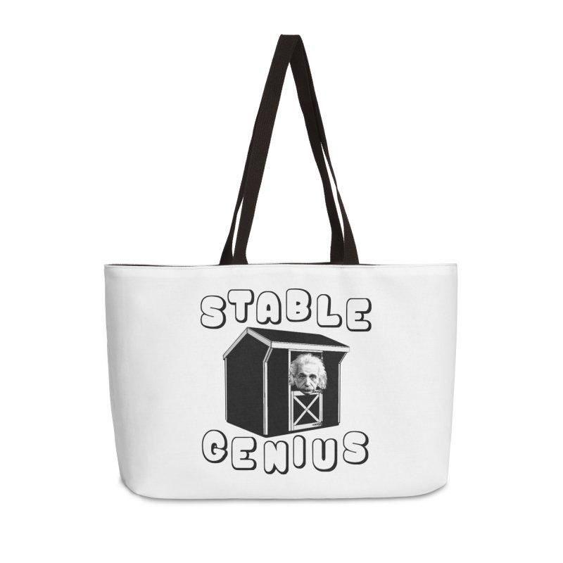 Stable Genius Accessories Weekender Bag Bag by Sam Shain's Artist Shop