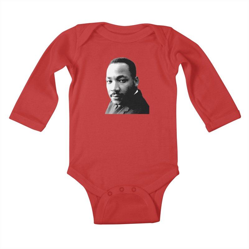 MLK Kids Baby Longsleeve Bodysuit by Sam Shain's Artist Shop