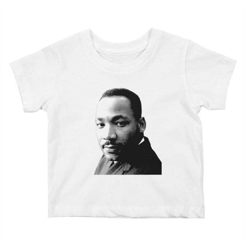 MLK Kids Baby T-Shirt by Sam Shain's Artist Shop