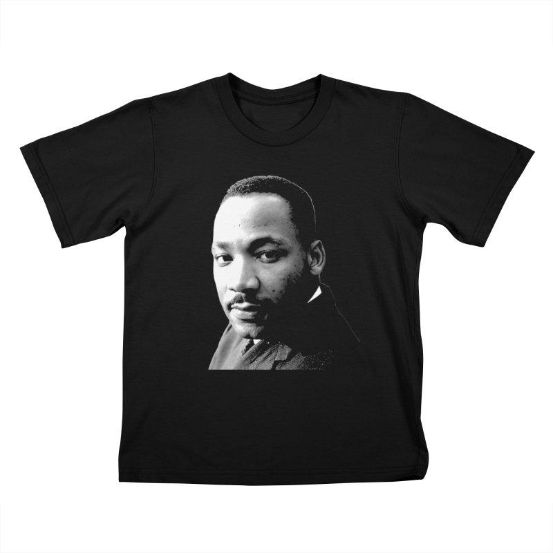 MLK Kids T-Shirt by Sam Shain's Artist Shop