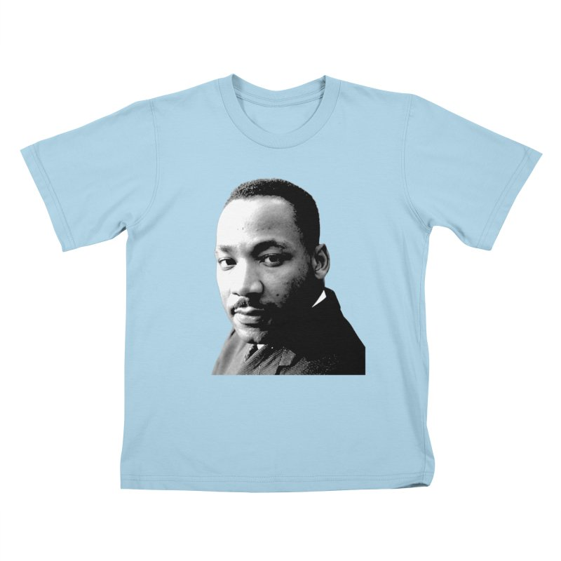 MLK Kids T-Shirt by Sam Shain's Artist Shop