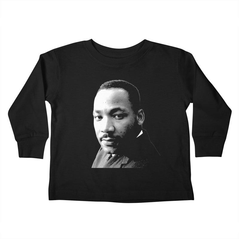 MLK Kids Toddler Longsleeve T-Shirt by Sam Shain's Artist Shop