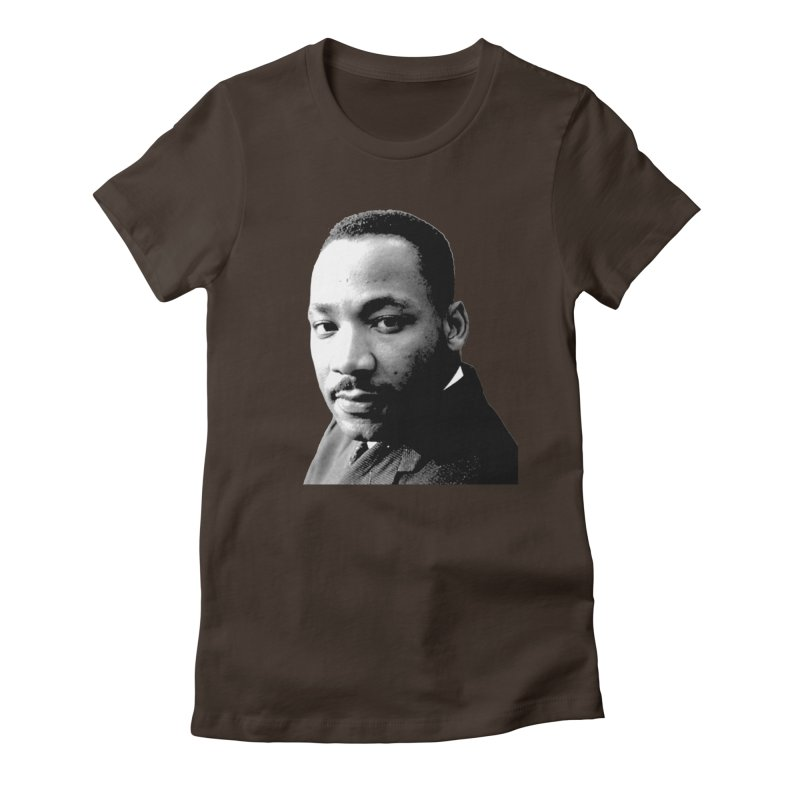 MLK Women's Fitted T-Shirt by Sam Shain's Artist Shop