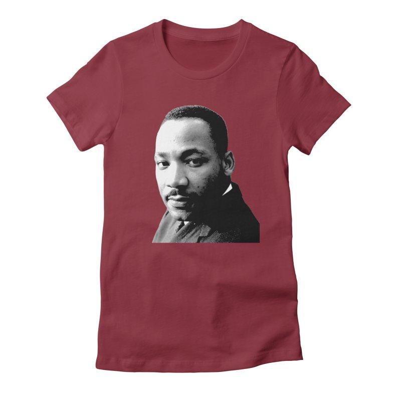 MLK Women's Fitted T-Shirt by Sam Shain's Artist Shop