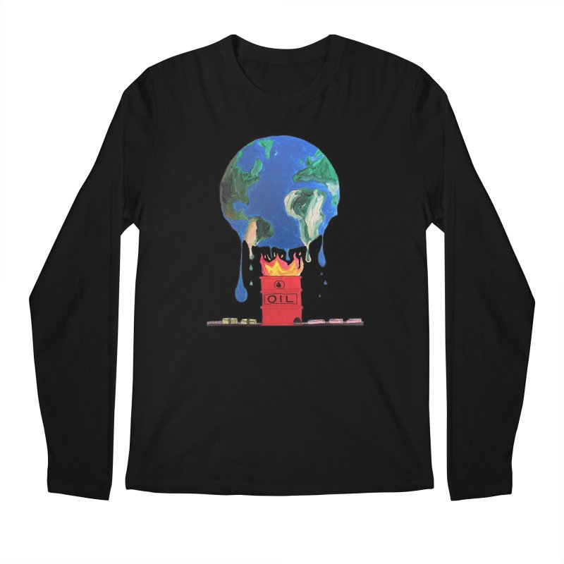 Fuel in Men's Regular Longsleeve T-Shirt Black by SamShain's Artist Shop
