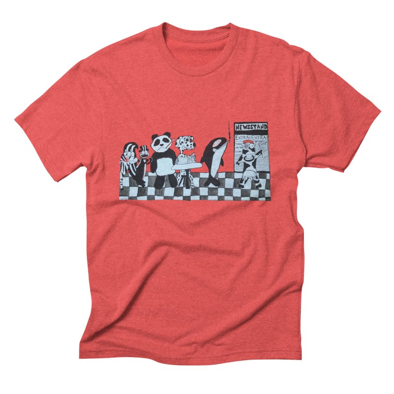 Black and White and Re(a)d All Over Men's T-Shirt by Sam Shain's Artist Shop