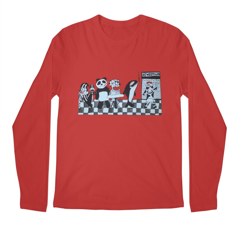 Black and White and Re(a)d All Over Men's Longsleeve T-Shirt by Sam Shain's Artist Shop