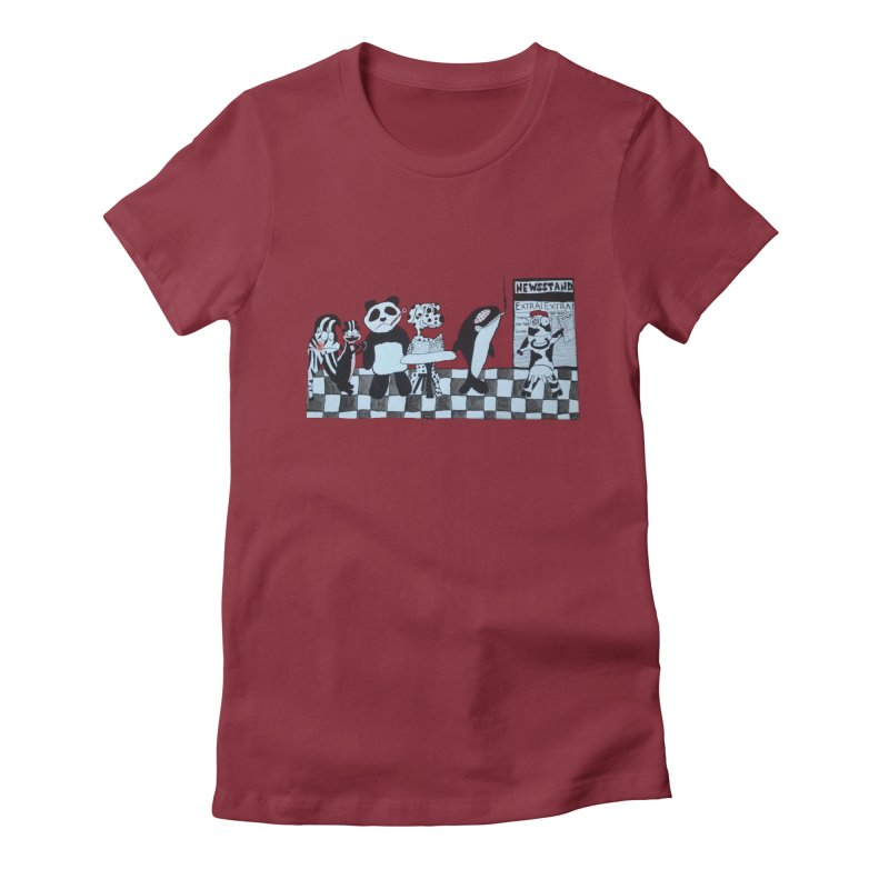 Black and White and Re(a)d All Over Women's T-Shirt by Sam Shain's Artist Shop