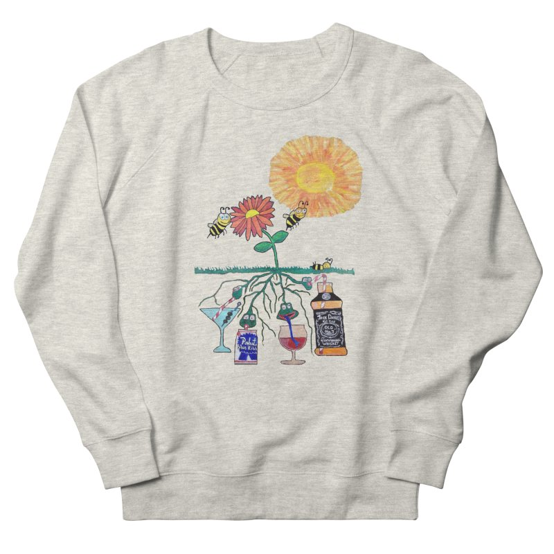 Buzzed Bees in Men's French Terry Sweatshirt Heather Oatmeal by SamShain's Artist Shop