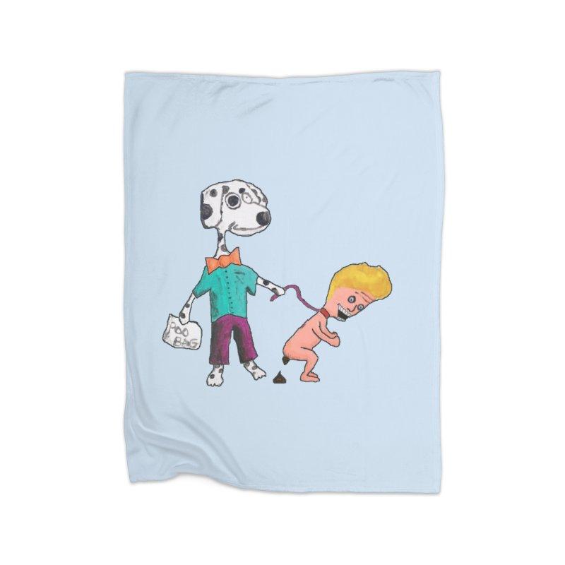 Housebroken Home Fleece Blanket Blanket by Sam Shain's Artist Shop