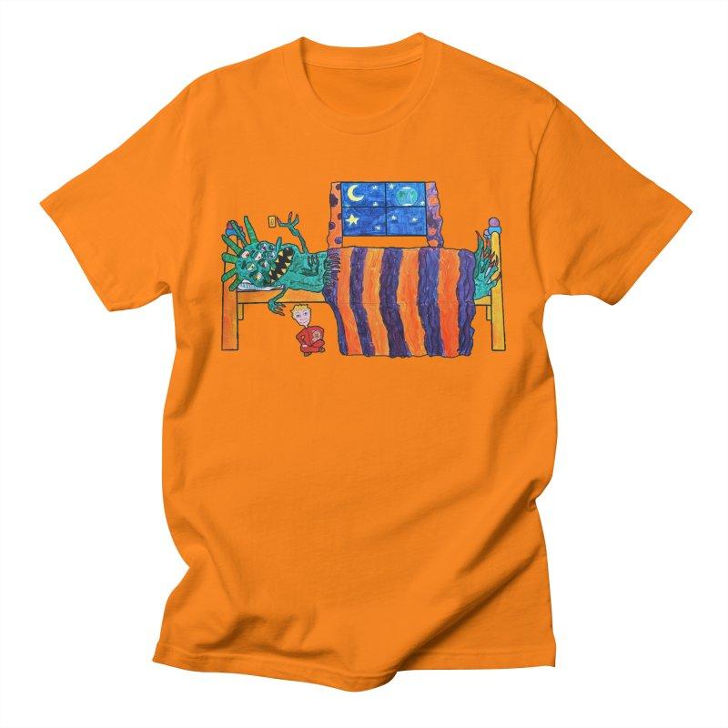 Monster Under the Bed Men's T-Shirt by Sam Shain's Artist Shop