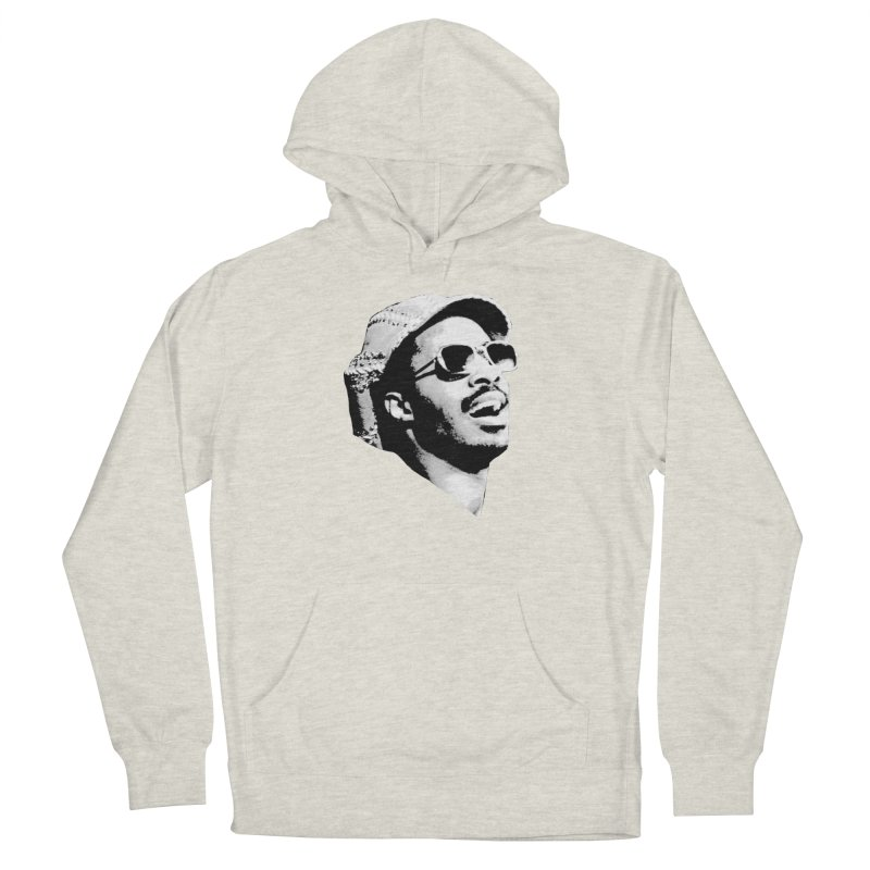 Stevie Wonder Women's French Terry Pullover Hoody by Sam Shain's Artist Shop