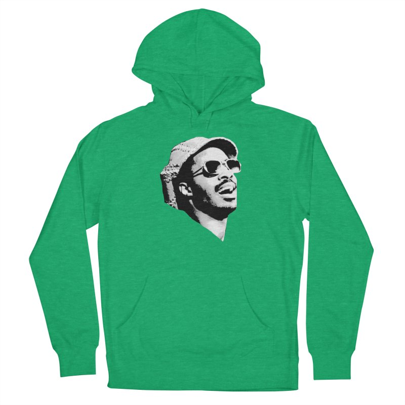 Stevie Wonder Men's French Terry Pullover Hoody by Sam Shain's Artist Shop