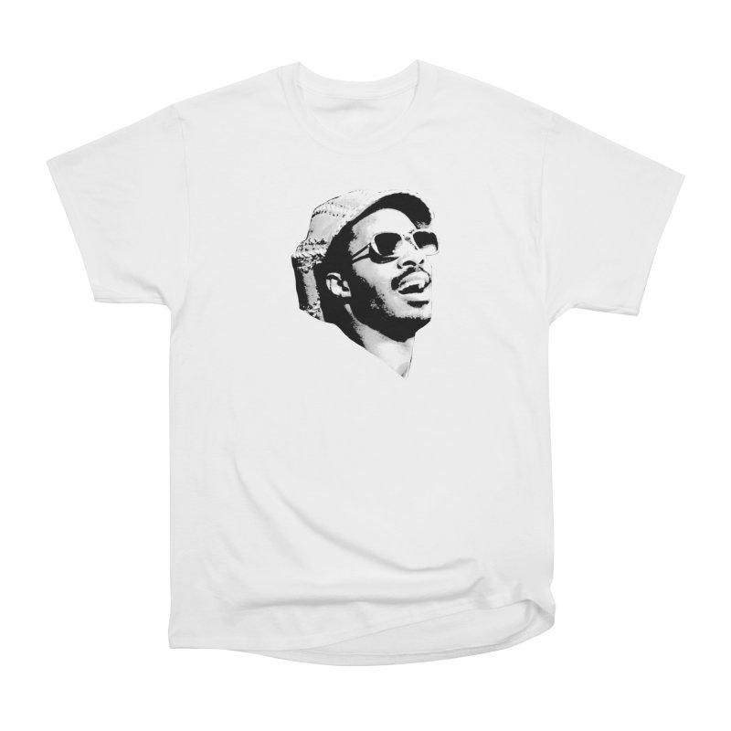 Stevie Wonder Women's Heavyweight Unisex T-Shirt by Sam Shain's Artist Shop